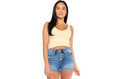 MIMOSA SUNRISE KNIT CROP TOP