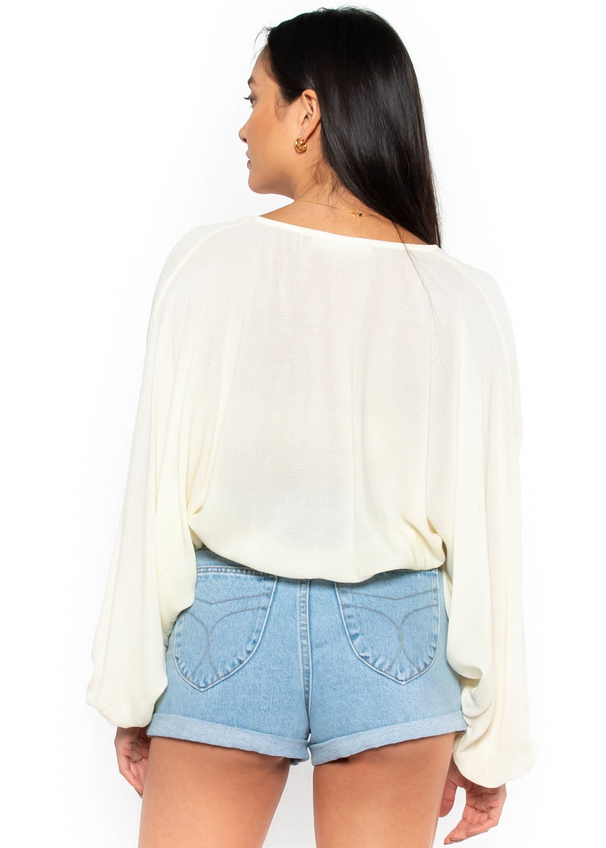 INSTANT ATTRACTION IVORY BLOUSE
