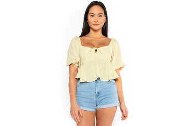 WILDFLOWER CROPPED BLOUSE