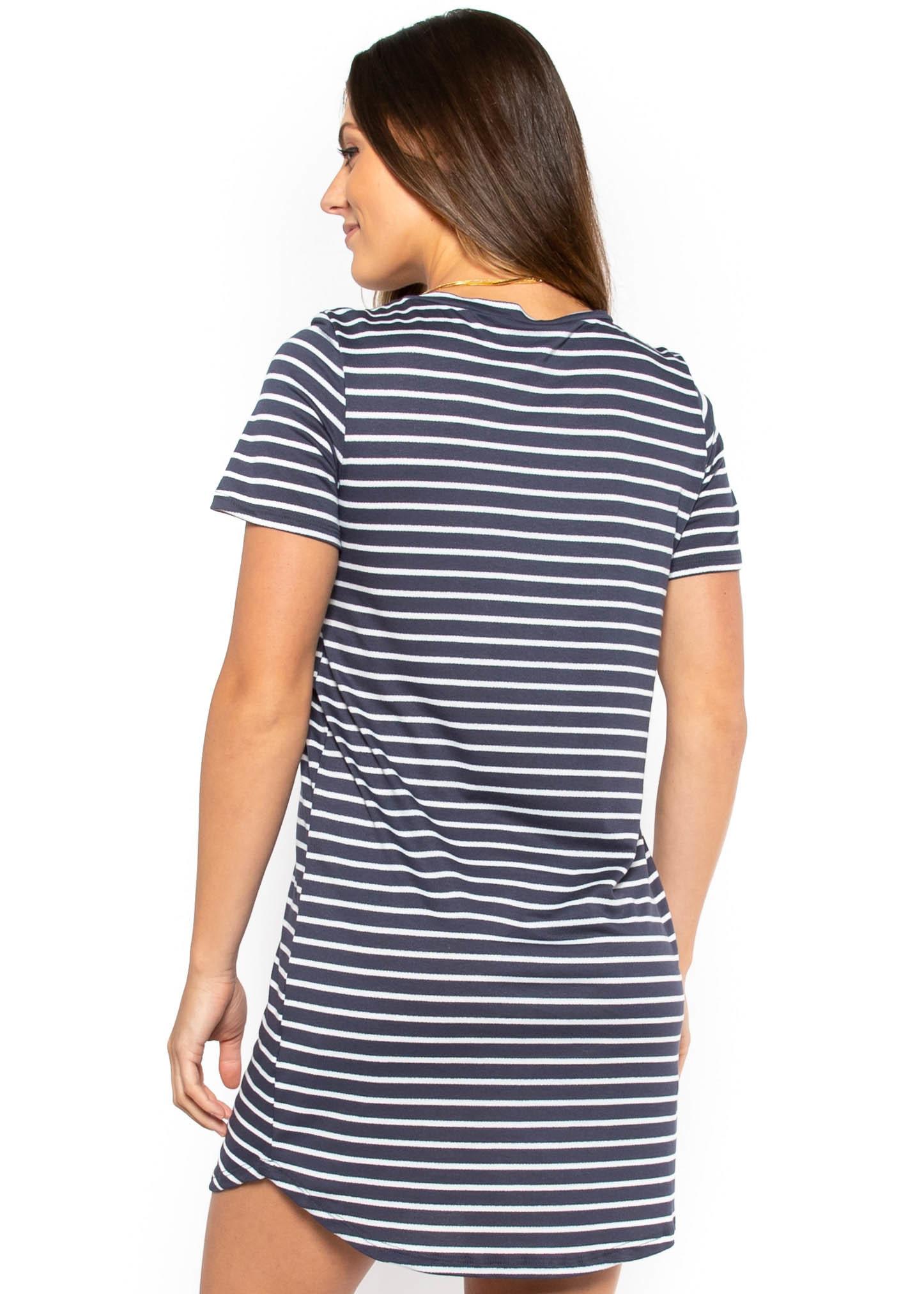 MEMPHIS T-SHIRT DRESS - GREY