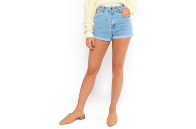 HAPPIEST DAY DENIM SHORTS