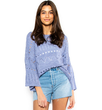 DAYTIME DELIGHT SWEATER - BLUE
