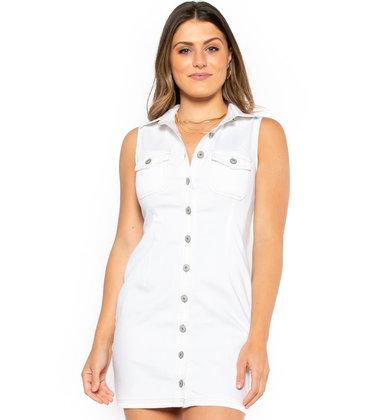 PARK PICNIC WHITE DENIM DRESS