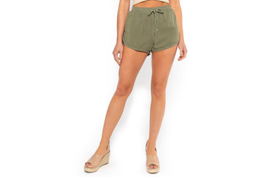 LAKE DAY OLIVE SHORTS