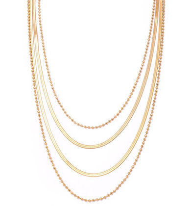 HARLOW GOLD LAYERED NECKLACE