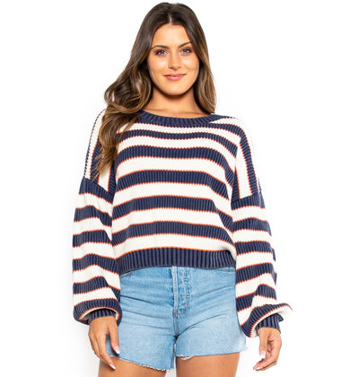 CENTRAL PARK STRIPED SWEATER