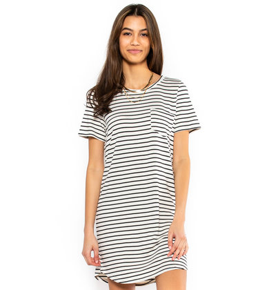 MEMPHIS T-SHIRT DRESS - IVORY