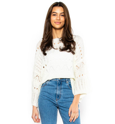 DAYTIME DELIGHT SWEATER - CREAM