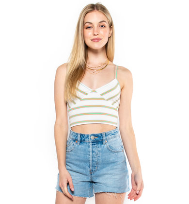 FLYING COLORS STRIPED CROP TOP