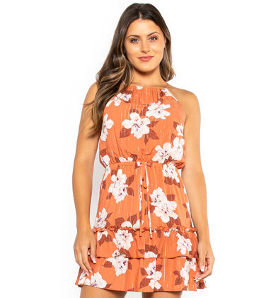 FLORAL FRENZY PRINTED DRESS