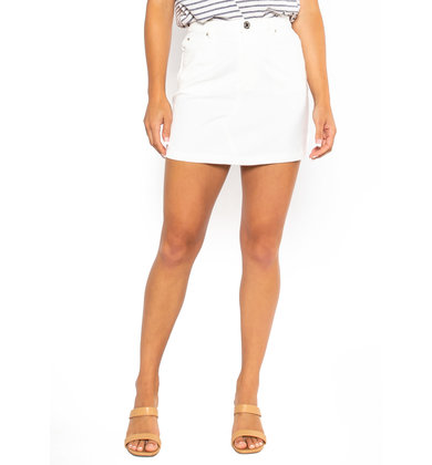 KACEY DENIM SKIRT - WHITE