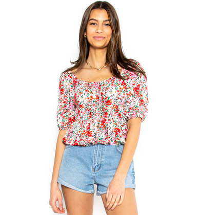 MAKE IT COLORFUL FLORAL TOP
