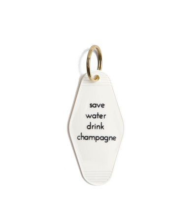 DRINK CHAMPAGNE KEY RING