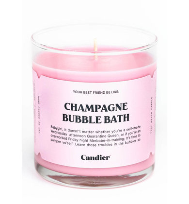 CHAMPAGNE BUBBLE BATH CANDLE
