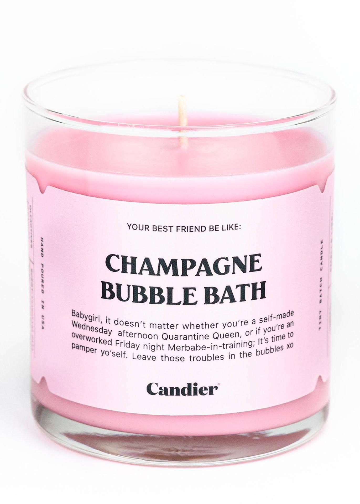 CHAMPAGNE BUBBLE BATH CANDLE