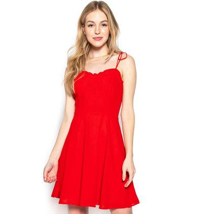 KEEP IT SOCIAL RED DRESS