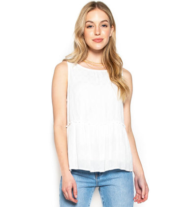 LAST DANCE WHITE TANK TOP