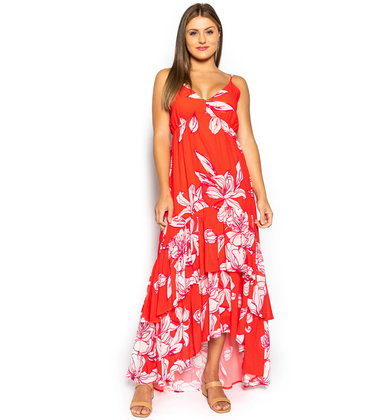 OCEAN AT DAWN FLORAL DRESS