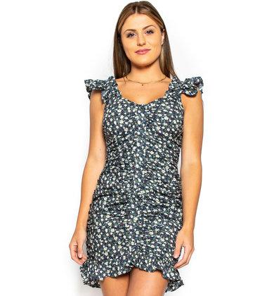 SPRINGING INTO LOVE FLORAL DRESS