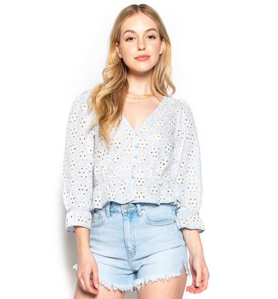 TEA GARDEN EYELET BLOUSE