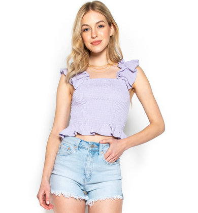 LOVELY AFTERNOON SMOCKED TANK TOP