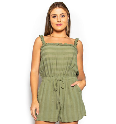 ON THE DOCK OLIVE ROMPER
