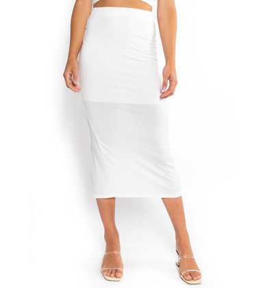 LASTING IMPRESSION RIBBED SKIRT
