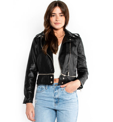 KEEP A SECRET LEATHER JACKET