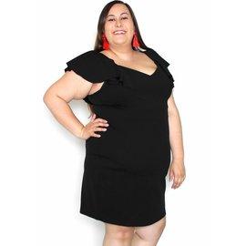 LACEY BLACK RUFFLE DRESS