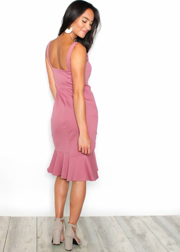 MADISON MAUVE BODYCON DRESS