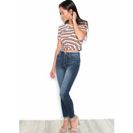 AMELIA STRIPED KNOTTED CROP TOP