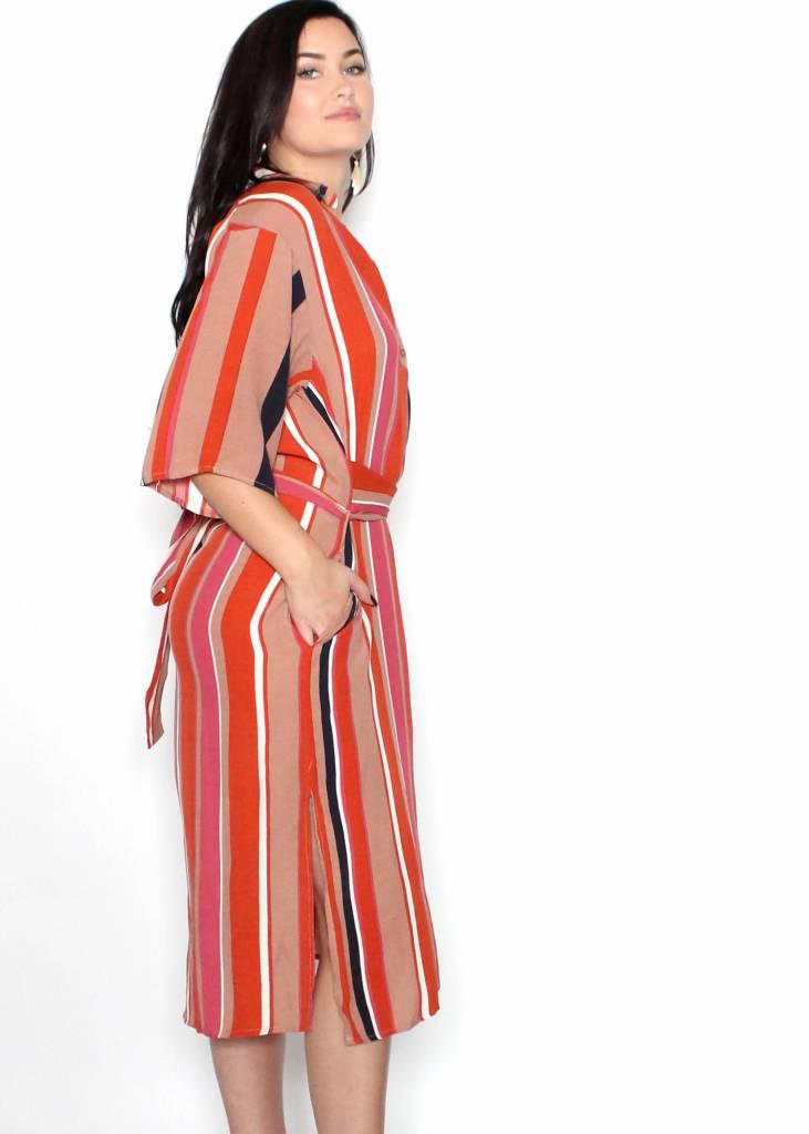 FIONA STRIPED DRESS