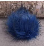 Image of Faux Fur Pom Pom Arctic Blue