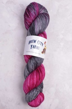 Image of Brew City Yarns Impish DK Lady Skellington