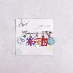 Image of Ann Tudor Stitch Markers, British Isles Collection, Small