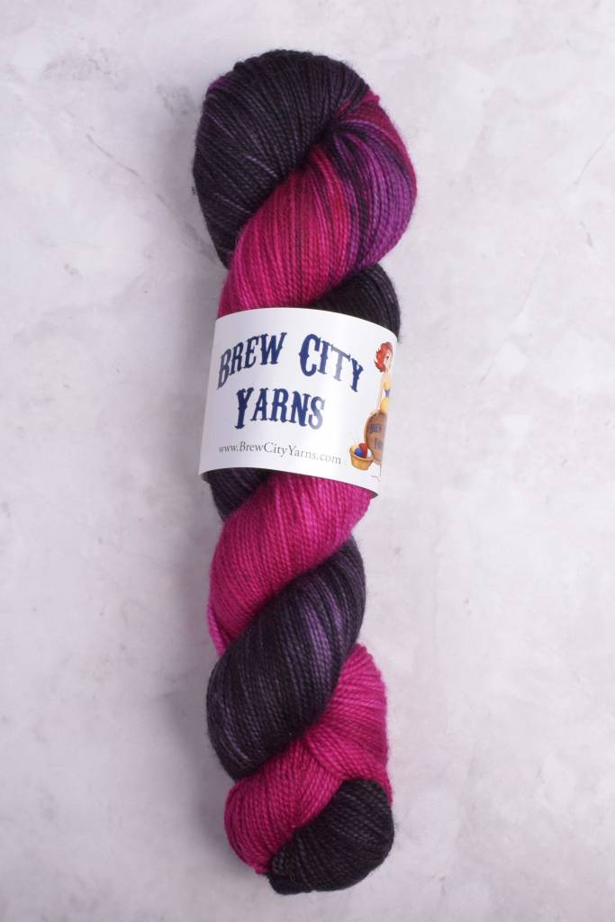 Image of Brew City Yarns Premium Draft Sock Lady Skellington