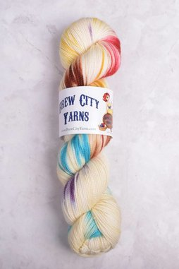 Image of Brew City Yarns Premium Draft Sock Tiger Lily