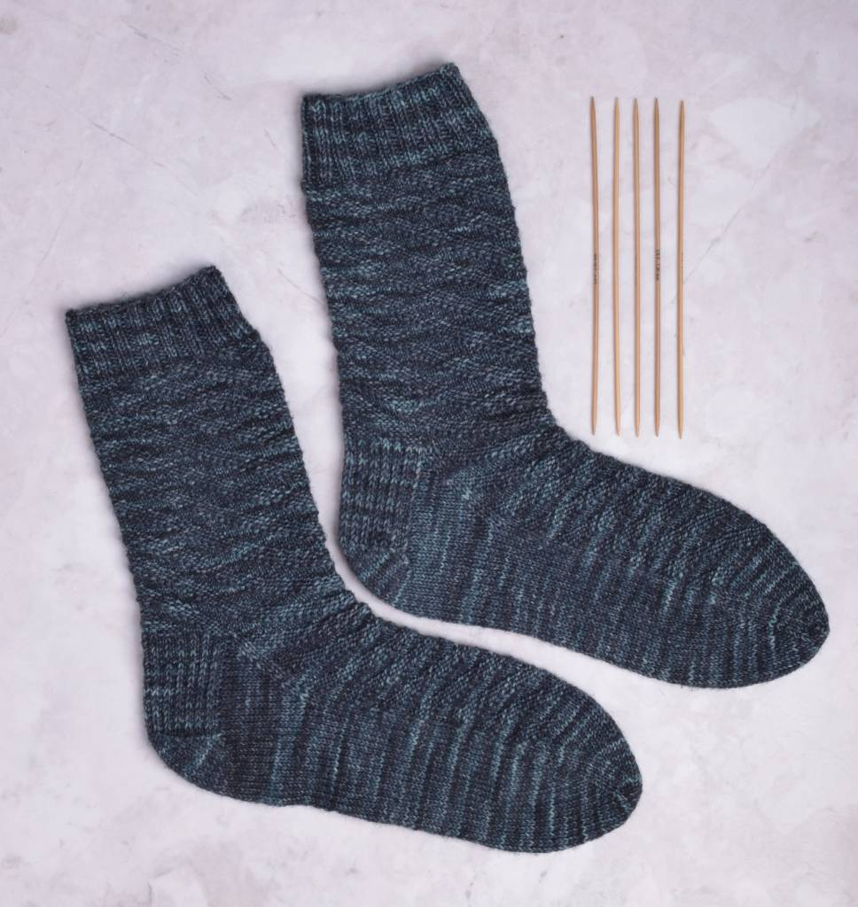 Image of Storm Chaser Socks (cuff down); Thursday, February 21, March 7, 21, April 4, 12:00-2:00PM