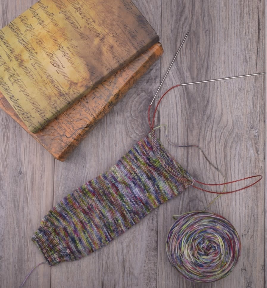 Image of Cuff Down, Magic Loop Socks, Wednesday, April 10, 24, May 1, 15;  6:00-8:00PM