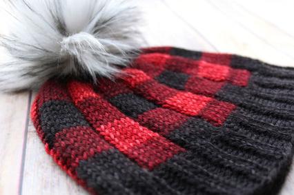 Brew City Yarns Buffalo Plaid Hat Kit