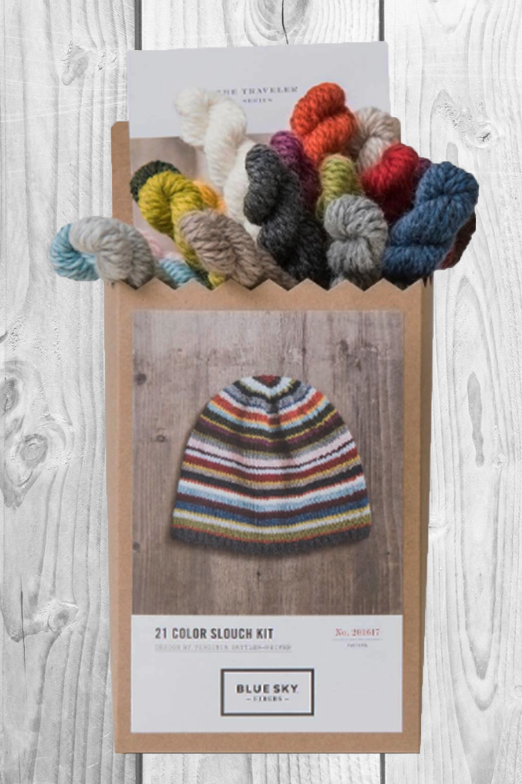 Image of Blue Sky Fibers 21 Color Slouch Hat Kit