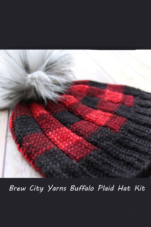 Image of Brew City Buffalo Plaid Hat Kit