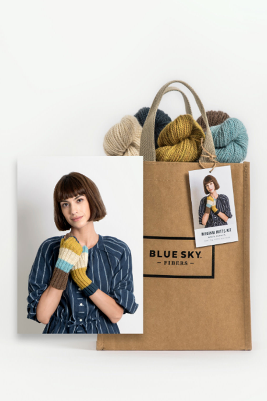 Image of Blue Sky Fibers Virginia Mitts Kit