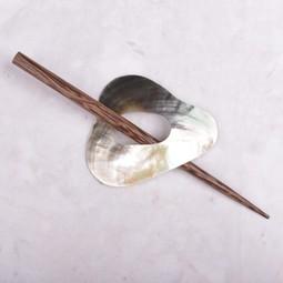 Image of Paradise Triangle Shell Shawl Pin SP30806