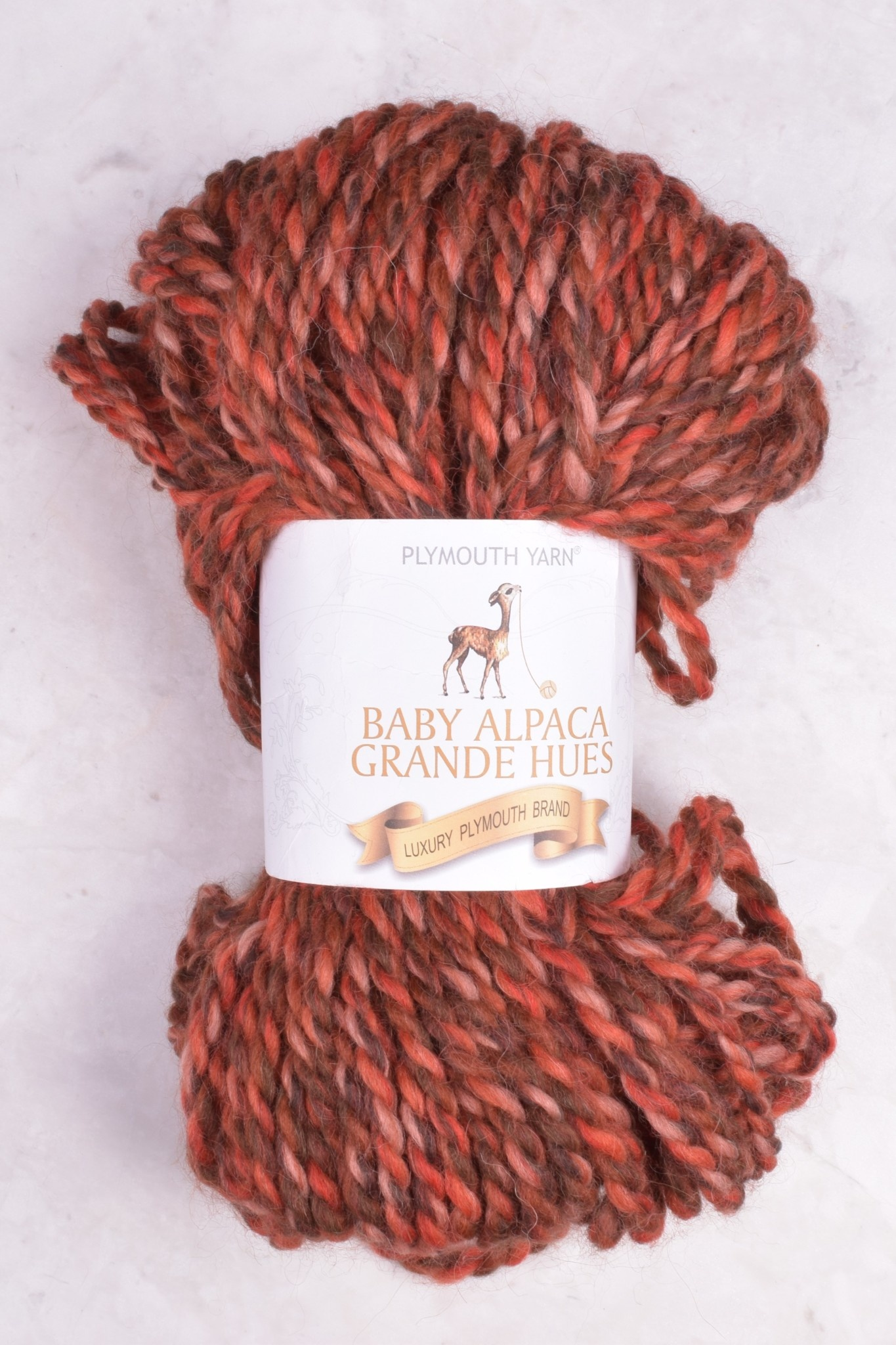 Image of Plymouth Baby Alpaca Grande Hues 7057 Sunset