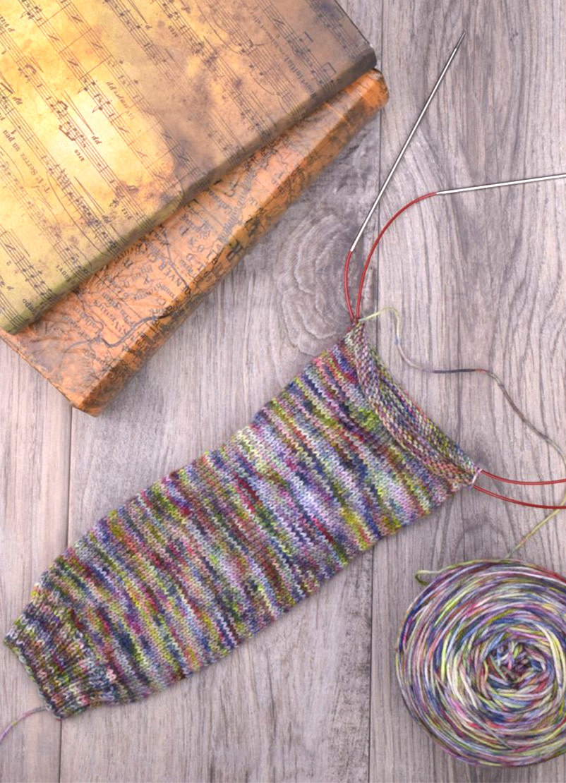 Cuff Down, Magic Loop Socks, Wednesday, August 14, 28, September 18, October 2;  6:00-8:00PM