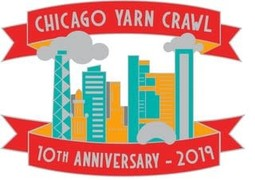 Image of 2019 Chicago Yarn Crawl Anniversary Pin: Preorder & Pick up in Store 7/26