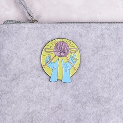 Image of Knit Worship Enamel Pin