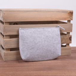 Image of Felt Project Pouch, Grey