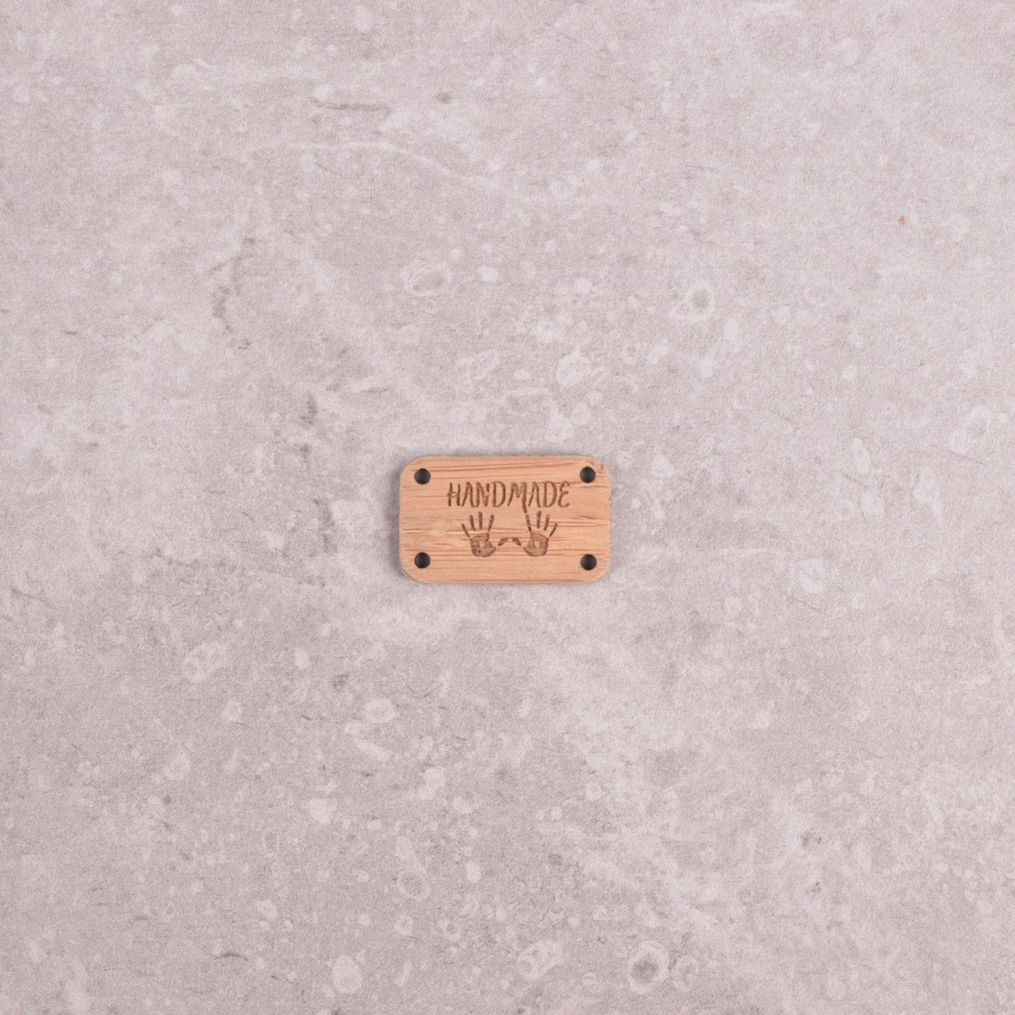Image of Katrinkles Sew-on, Wood Hand Made Tag
